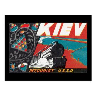 Kiev_Vintage Travel Poster Artwork Postcard
