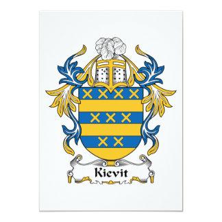 Kievit Family Crest Card