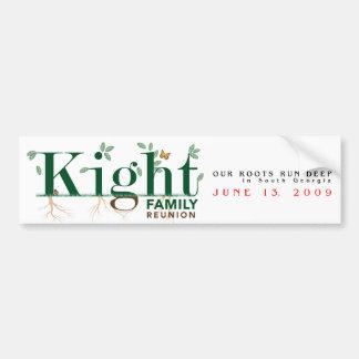 Kight Family Reunion 2009 Bumper Sticker