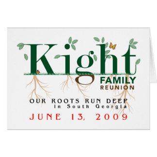 Kight Family Reunion 2009 Card