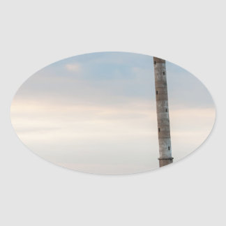 Kiipsaare Leaning Lighthouse, Saaremaa, Estonia Oval Sticker