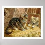 Kiitten Poster Print: Vintage Kitty Cats