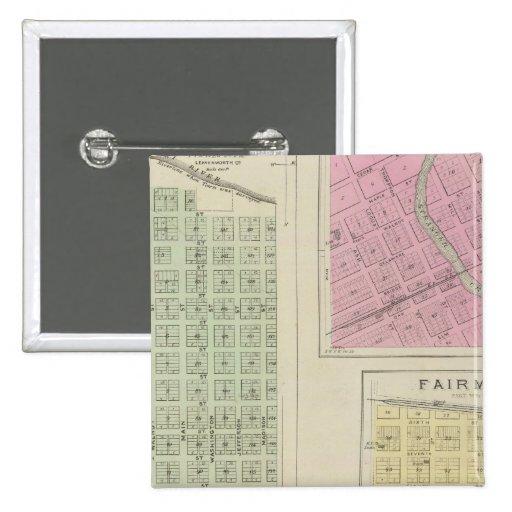 Kikapú, Linwood, Fairmount, y Lenape, Kansas Pins