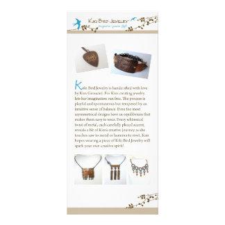 Kiki Bird Jewelry Custom Rack Cards