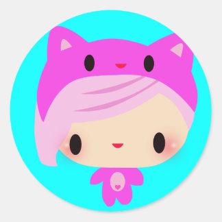 Kiki-Chan Classic Round Sticker
