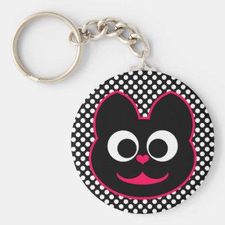 KiKi Kat Pink Keychain