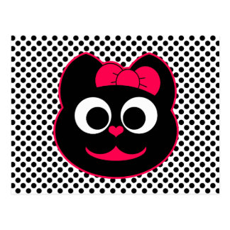 KiKi Kitty Pink Postcard