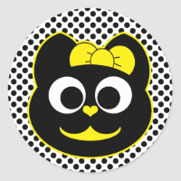KiKi Kitty Yellow Sticker
