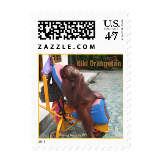 KiKi Orangutan in Her Wheelchair Postage