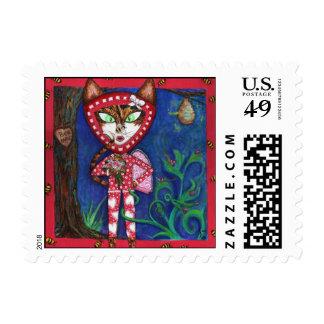 KiKi Valentine Fine Art Postage Stamp
