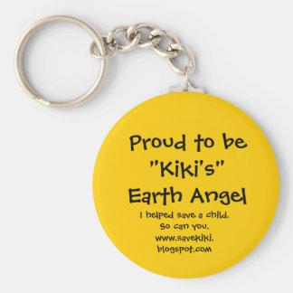 Kiki's Angel Key Reminder Basic Round Button Keychain