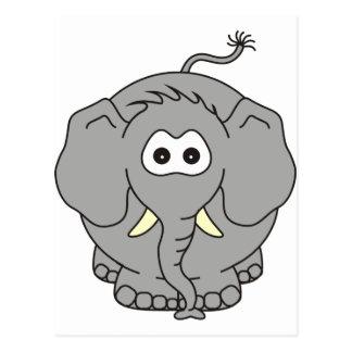 Kiko un elefante del bebé tarjeta postal