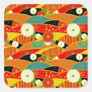 Kiku and Ougi Square Sticker