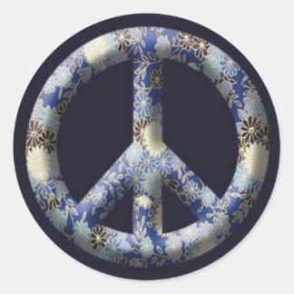 Kiku Peace Classic Round Sticker