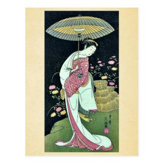 Kikunojo de Segawa por Ippitsusai, Buncho Ukiyoe Postales