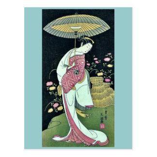 Kikunojo de Segawa por Ippitsusai, Buncho Ukiyoe Tarjeta Postal