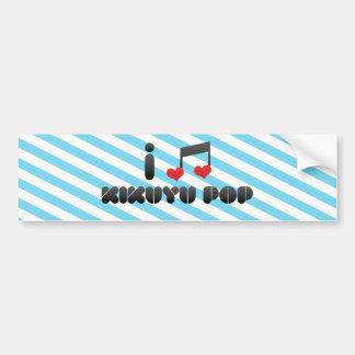 Kikuyu Pop fan Car Bumper Sticker