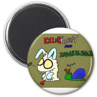 Kil smiles rabbit 2 inch round magnet