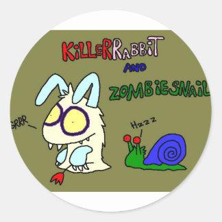 Kil smiles rabbit classic round sticker