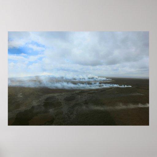 kilauea big island volcano lava flow poster