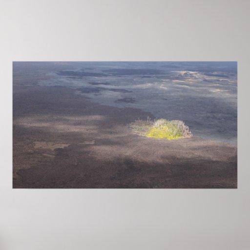 kilauea crater big island volcano lava poster