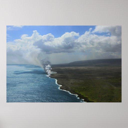 kilauea crater big island volcano lava posters
