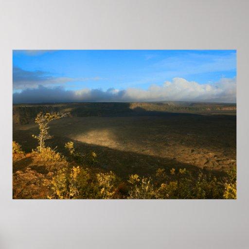 kilauea crater big island volcano lava print