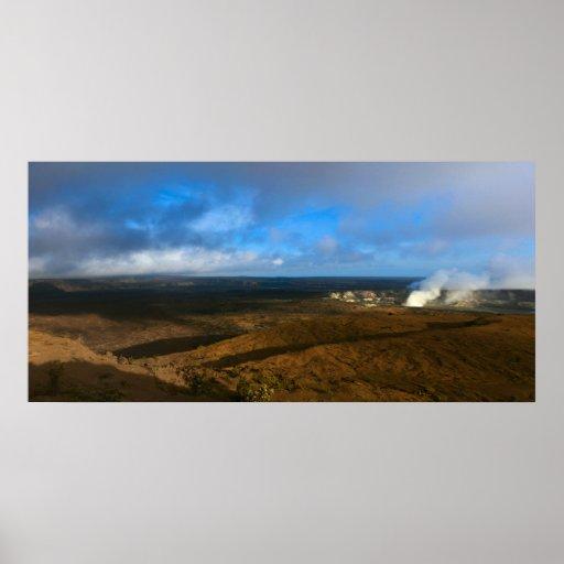 kilauea crater big island volcano poster