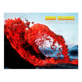 Kilauea eruption, Hawaii Volcanoes National Park Postcard