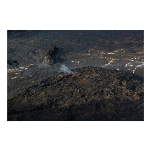 kilauea iki crater big island volcano poster