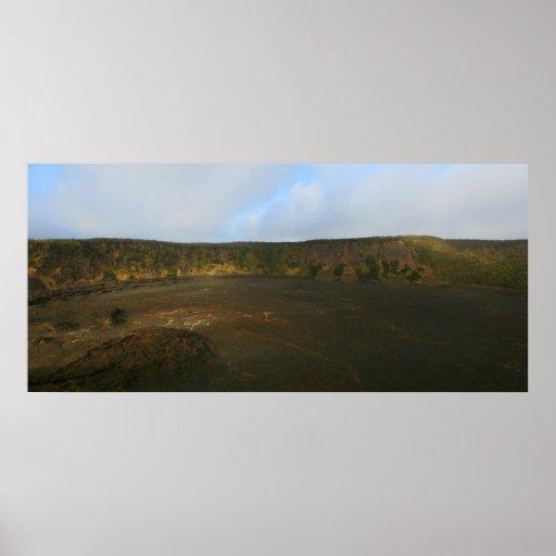 kilauea iki crater big island volcano print