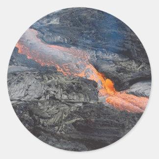 Kilauea Lava Flow Classic Round Sticker