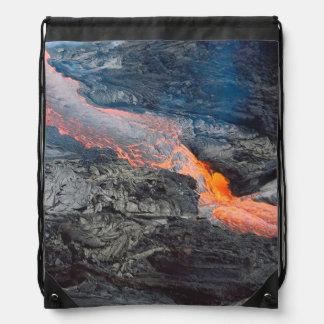 Kilauea Lava Flow Drawstring Backpack