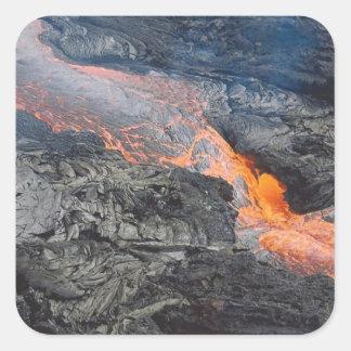 Kilauea Lava Flow Square Sticker