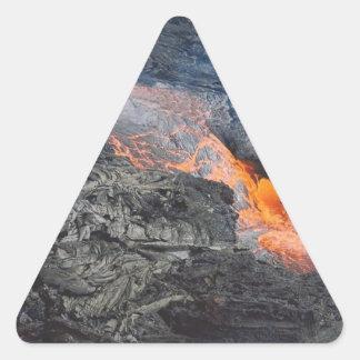 Kilauea Lava Flow Triangle Sticker
