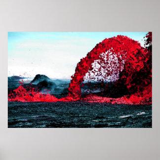 Kilauea Lava Fountain Print
