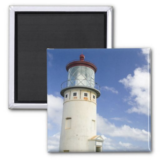 Kilauea Lighthouse 2 Inch Square Magnet