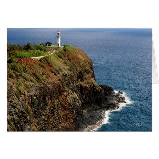 Kilauea Lighthouse Blank Card