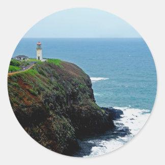 Kilauea Lighthouse Classic Round Sticker