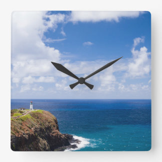 Kilauea Lighthouse in Kauai, Hawaii Square Wall Clock