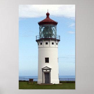 Kilauea Lighthouse on Kauai Poster