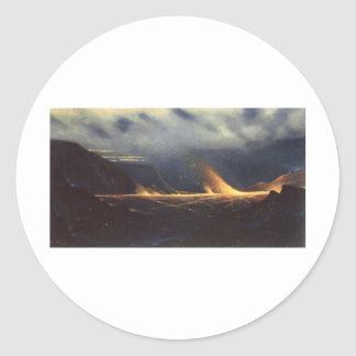 'Kilauea', oil on canvas painting Classic Round Sticker