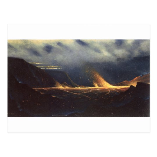 'Kilauea', oil on canvas painting Postcard