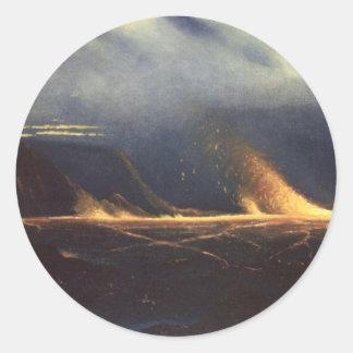 'Kilauea', oil on canvas painting Round Sticker