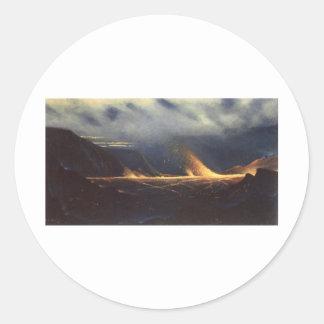 'Kilauea', oil on canvas painting Classic Round Sticker