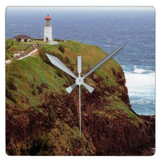 Kilauea Point Lighthouse, Kauai, Hawaii Square Wall Clock