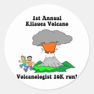 Kilauea volcano classic round sticker