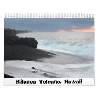 Kilauea Volcano, Hawaii Calendar