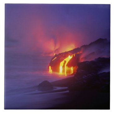 DanitaDelimont Kilauea Volcano Hawaii Volcanoes National Park 2 Ceramic Tile