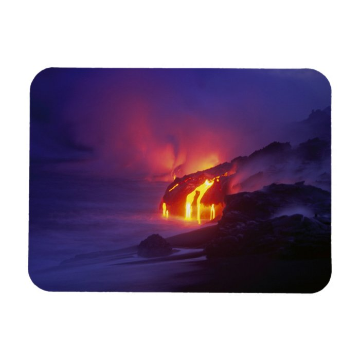Kilauea Volcano Hawaii Volcanoes National Park 2 Rectangular Photo Magnet